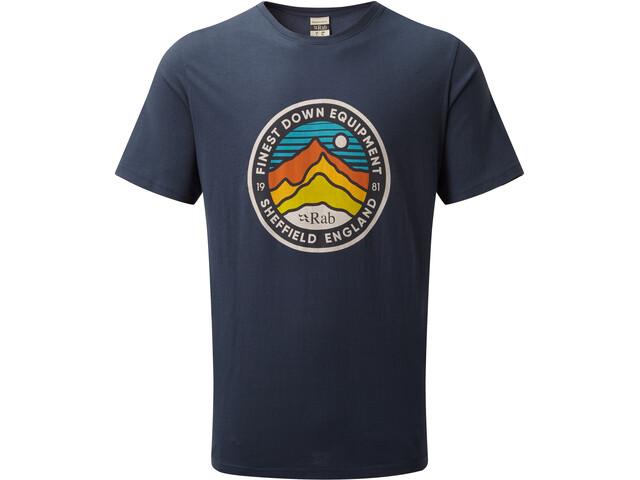 Rab Stance 3 Peaks T-shirt Homme, deep ink